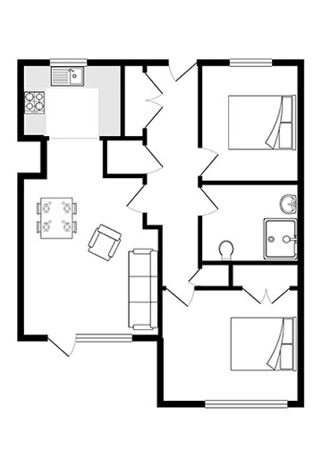 Apartment 3 floor plan