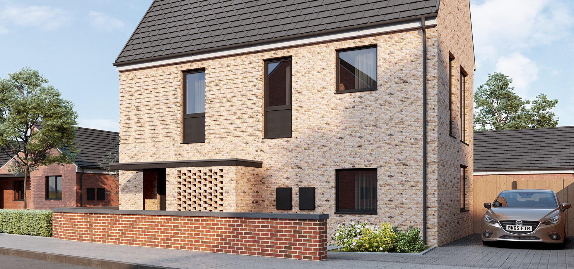 An image of 1 house from the Shape Homes York housing development