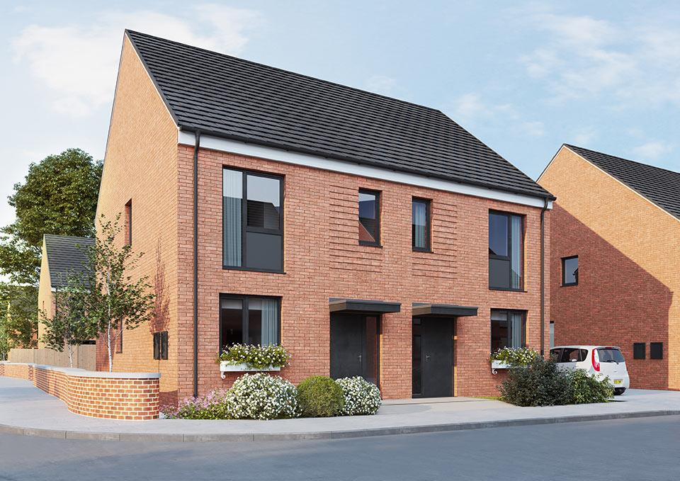An image of a house from the Shape Homes York development.