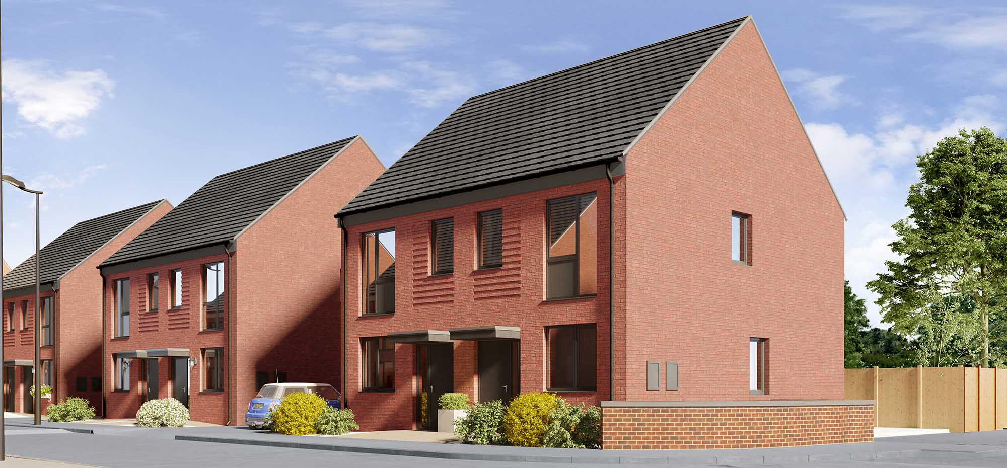 This image shows the external view of the Burdock house from Shape Homes York.