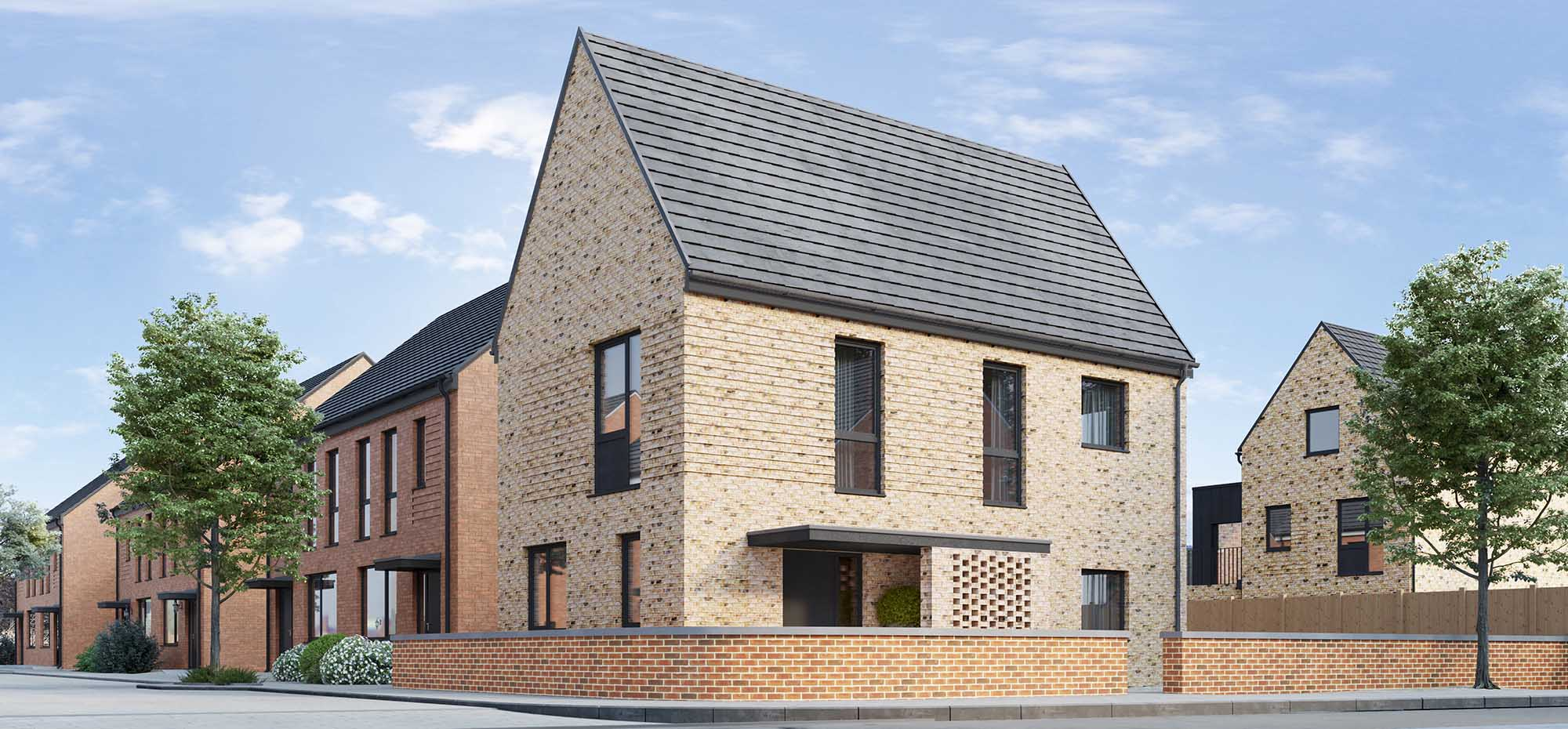 This image shows an external view of the Sage three bedroom, detached house from Shape Homes York