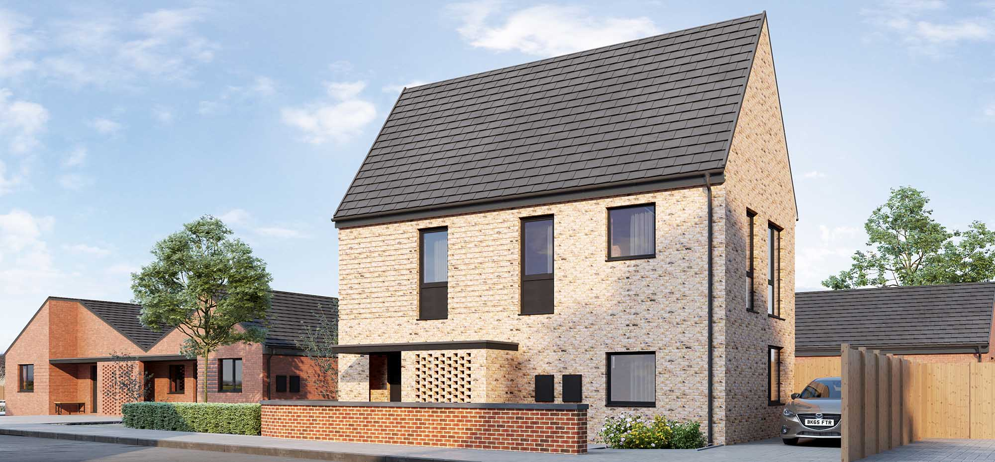 This image shows an external view of the Sundew house from Shape Homes York.